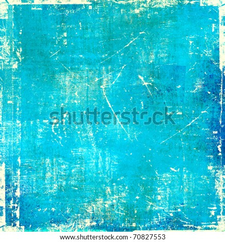 Blue scratch background - stock photo