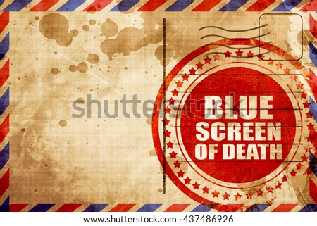blue screen of death - stock photo