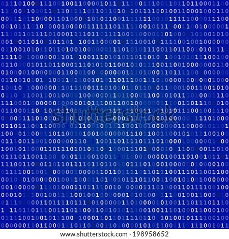Blue screen of death computer binary code  background - stock photo