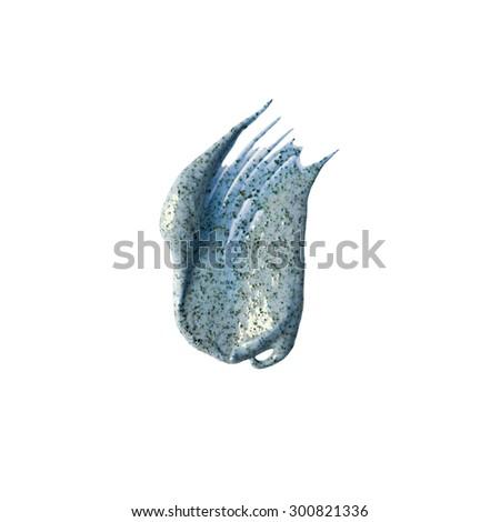 Blue scrub sample isolated on white background - stock photo