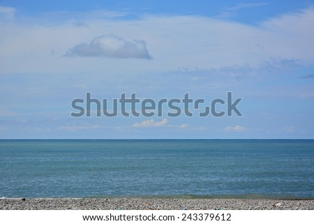 Blue sea and sky - stock photo