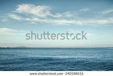 blue sea and sunshine sky  - stock photo