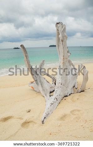 Blue sea and white sand in Koh Lipe. - stock photo