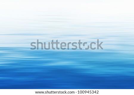 Blue sea background - stock photo