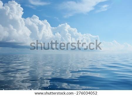 Blue Sea. Celebes Sea in Semporna, Sabah Borneo, Malaysia. For background - stock photo
