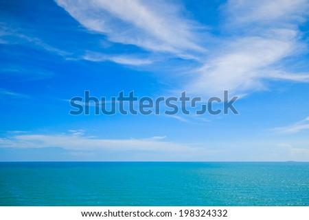 Blue sea cloud - stock photo