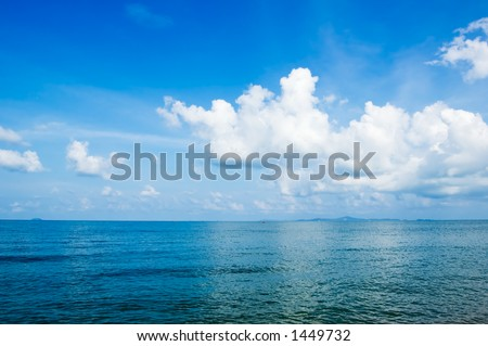 Blue Sea Location: Pattaya, Thailand - stock photo