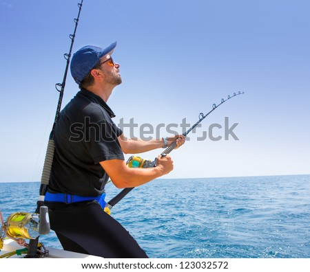 Tuna fisherman stock images royalty free images vectors for Tuna fishing boat