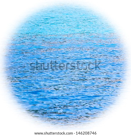 Blue sea surface with waves. Bleached angles. - stock photo