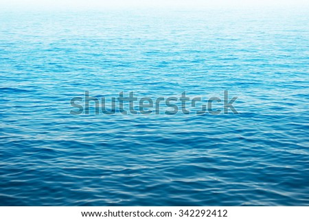 Blue sea water. Ocean surface for natural background - stock photo