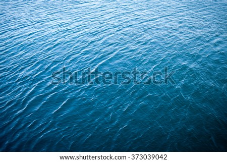 Blue sea water surface as natural texture - stock photo