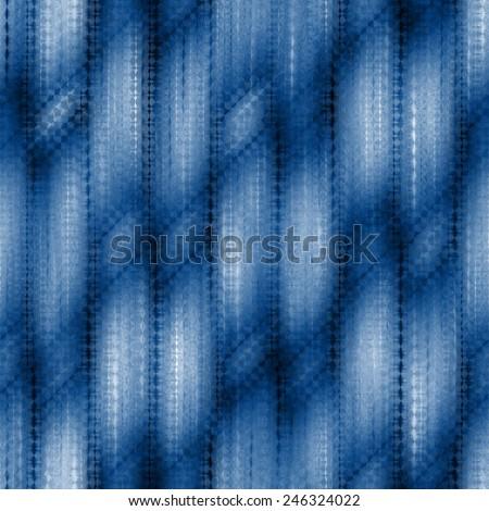blue seamless weaving texture pattern under glass - stock photo