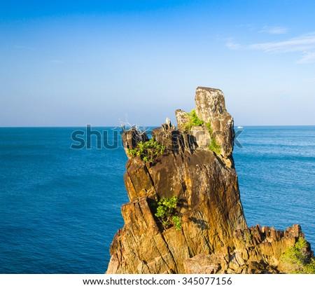 Blue Seascape Heaven Horizon  - stock photo