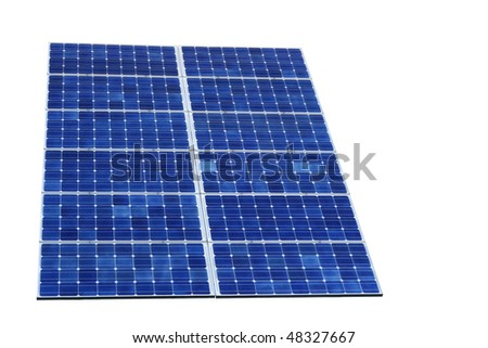 blue shifted solar cell isolated