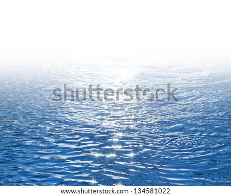 Blue Shimmering Seawater Background with place for your text