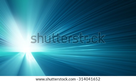 blue shining rays. computer generated abstract background