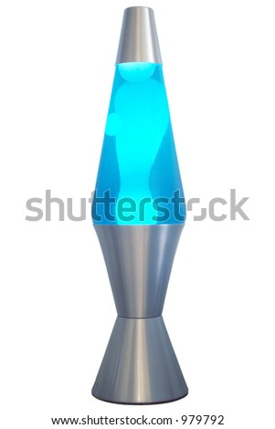 Blue & Silver Lava Lamp