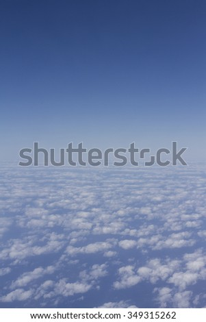 Blue sky above the white clouds