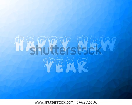 blue sky abstract background of triangles low poly TEXT happy new year
