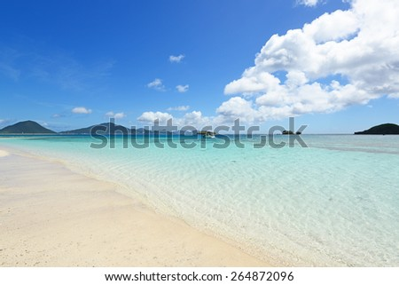 Blue sky and clear sea