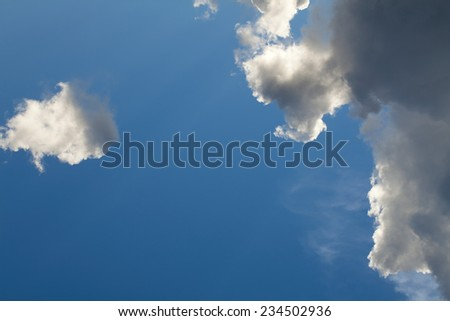 blue sky and cloud for background
