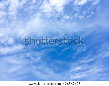 Blue sky and clouds background pattern - stock photo