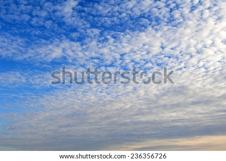 blue sky and clouds. High resolution blue sky background. - stock photo