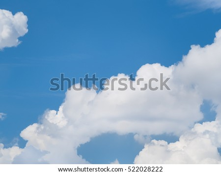 Blue sky and clouds in daylight, used as background
