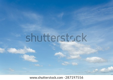 Blue sky and clouds in sunshine day