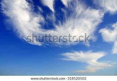 Blue sky and clouds. Sky and clouds background - stock photo