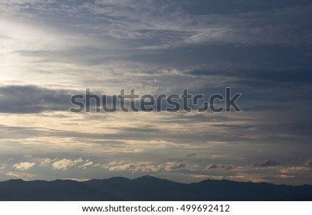 Blue sky and clouds. Sky and clouds background. Sky background / Blue Sky and Clouds