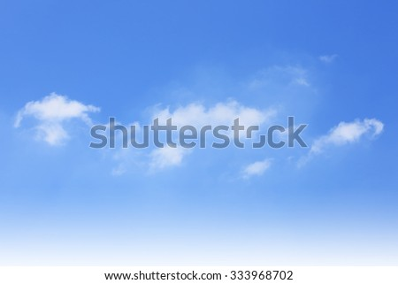 Blue sky and perfect weather, nature background