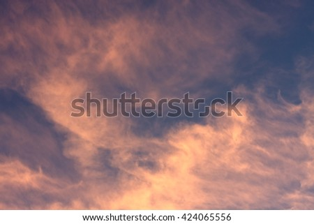 Blue Sky and Pink Clouds