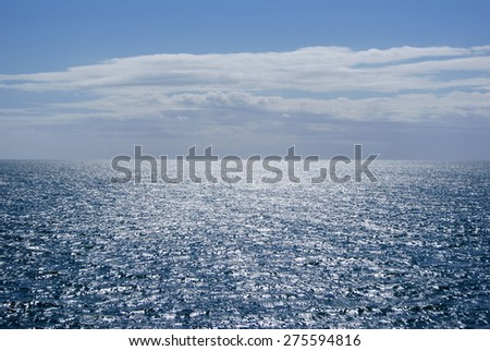 Blue sky and sea