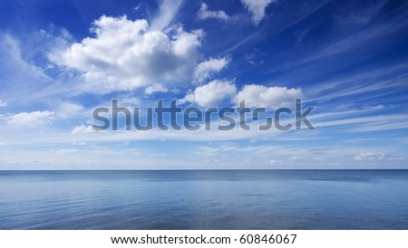 Blue sky and sea - stock photo