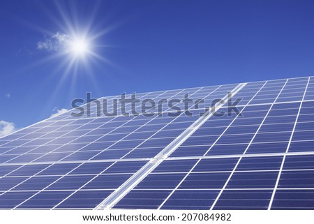 Blue Sky And Solar Panel