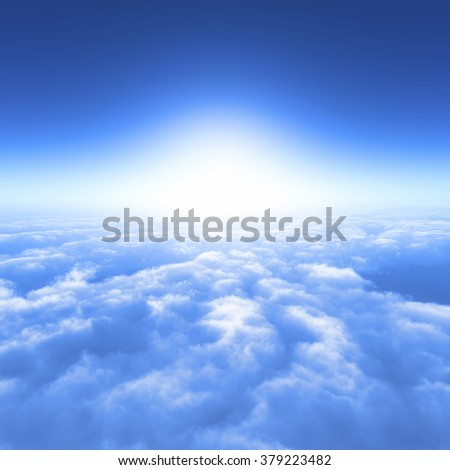 blue sky and the sea of clouds