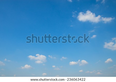 Blue sky and tiny clouds - stock photo