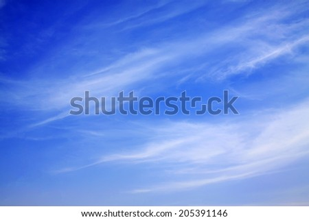 blue sky and white clouds, closeup of photo