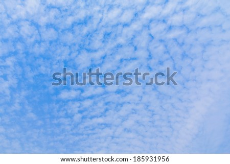 Blue sky and white clouds, may be used as background - stock photo