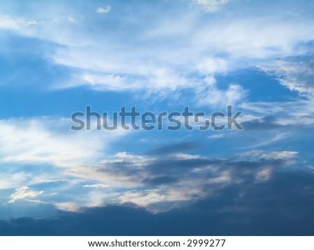 Blue sky (background) - stock photo