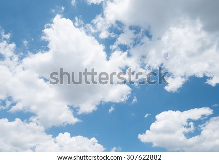Blue sky background and clouds - stock photo