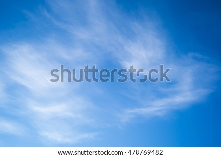 Blue sky background texture white clouds abstract light tone art clean day
