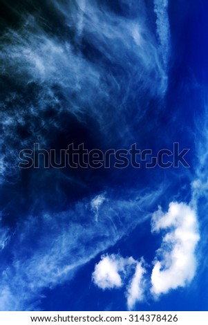 Blue sky background.White clouds in blue sky.