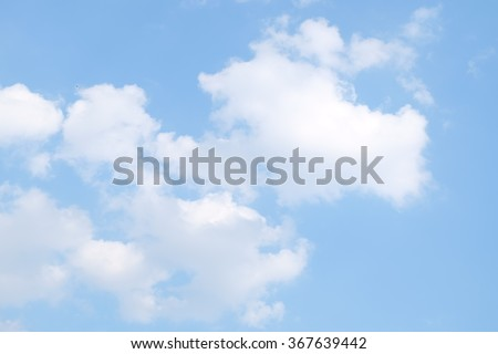 blue sky background with a clouds - stock photo