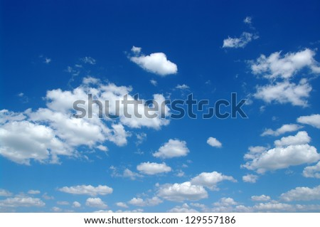 blue sky background with white clouds - stock photo