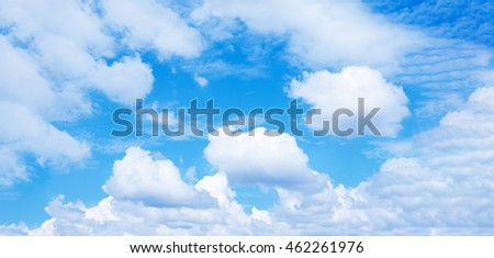 blue sky background with white clouds,panorama