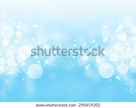 blue sky bokeh glitter defocused lights abstract background - stock photo