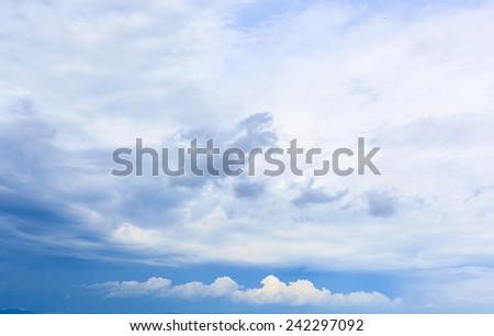 Blue sky cloud - stock photo