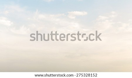 Blue sky, clouds and sun light panorama background - stock photo